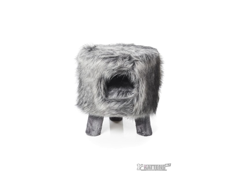 Huebii fluffy large grey