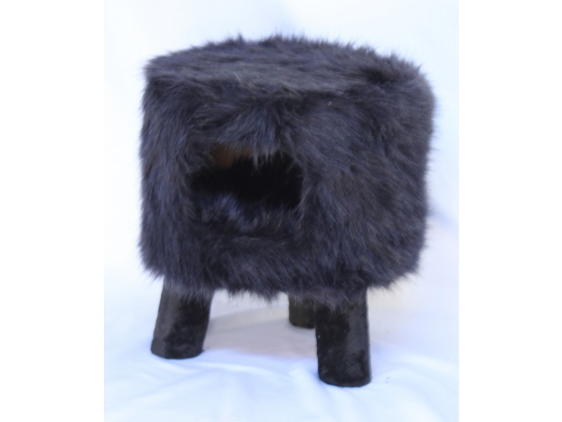 Huebii fluffy large black